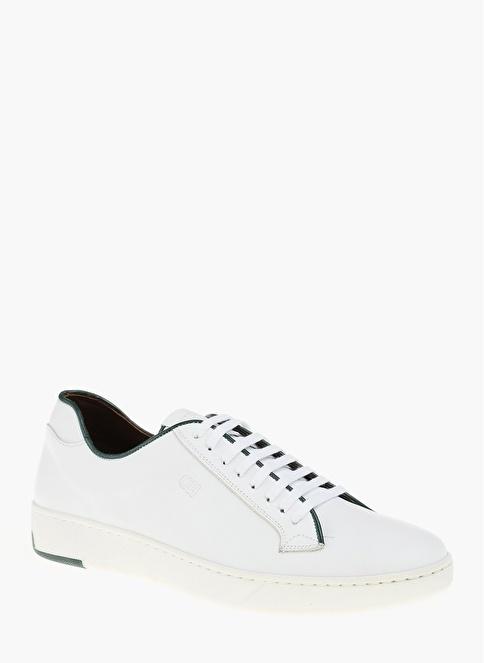 George Hogg %100 Deri Bağcıklı Ayakkabı Beyaz